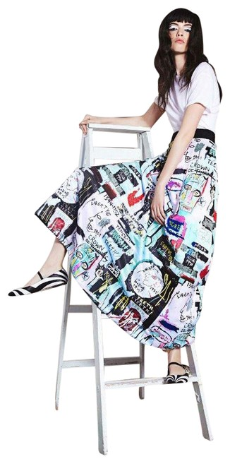 Item - Multicolor Jean-michel Basquiat 2015 Collection Skirt Size 0 (XS, 25)