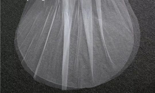Long White Or Ivory 3m/10ft 2t Cut Edge Cathedral Bridal Veil Image 6