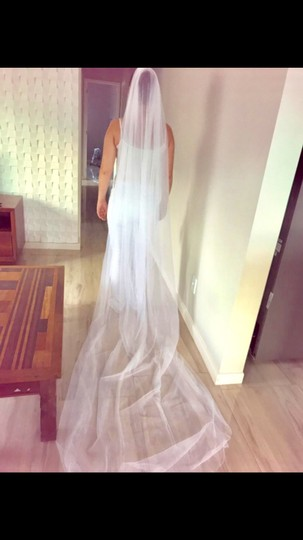 Long White Or Ivory 3m/10ft 2t Cut Edge Cathedral Bridal Veil Image 9