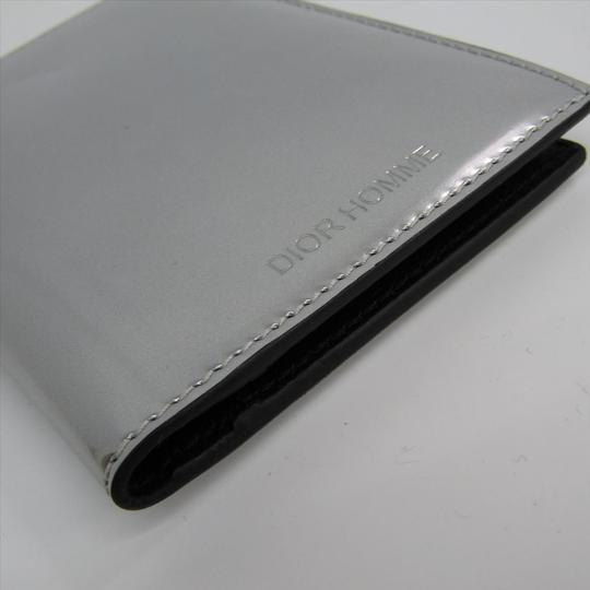 Dior Dior Homme Leather Card Case Black,Silver Image 5