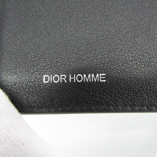 Dior Dior Homme Leather Card Case Black,Silver Image 7