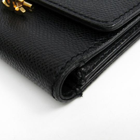 Chanel Chanel Leather Card Case Black Folding in three Image 5