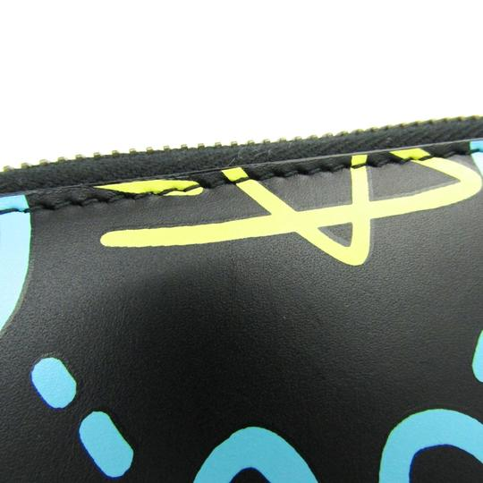 Gucci Gucci Leather Card Case Black,Blue,Yellow 448465 DS1AT 8438 Image 3