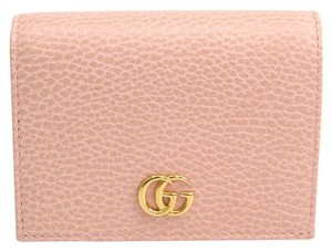 Gucci Blush Pink Leather Marmont GG Card Case