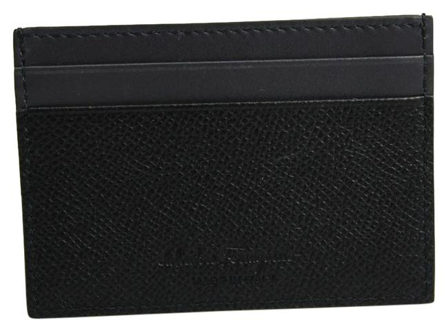 Item - Black / Charcoal Gray 660972 Leather Card Case Wallet