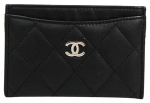 Chanel Chanel Leather Card Case Black Matelasse A31510