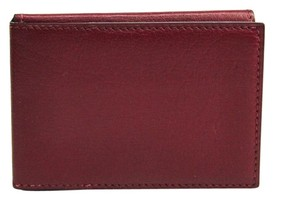 Hermès Hermes Trifold Leather Card Case Bordeaux