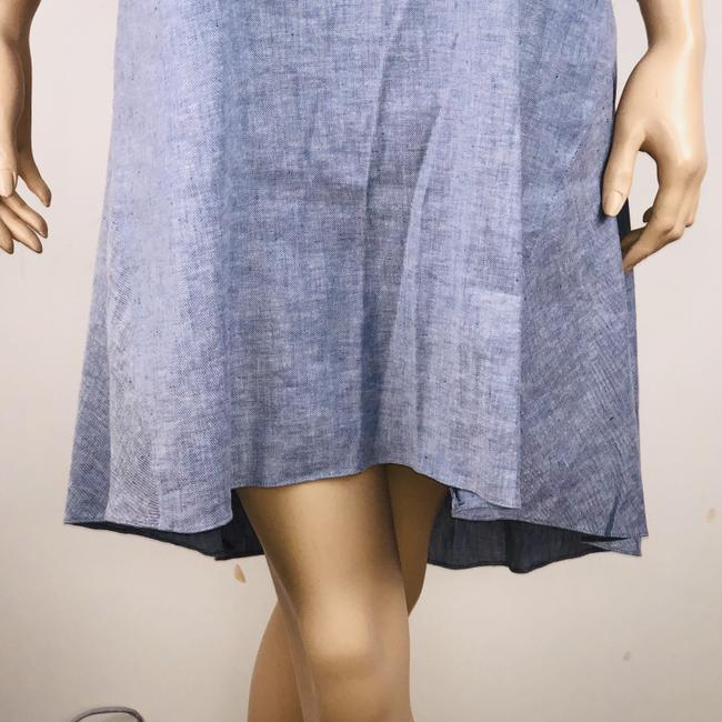 Theory short dress Blue Linen Blend Sleeveless Hi Lo Shift on Tradesy Image 2