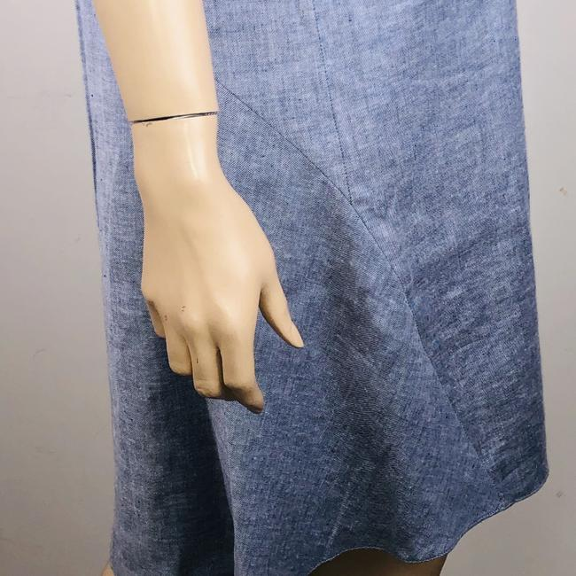 Theory short dress Blue Linen Blend Sleeveless Hi Lo Shift on Tradesy Image 3