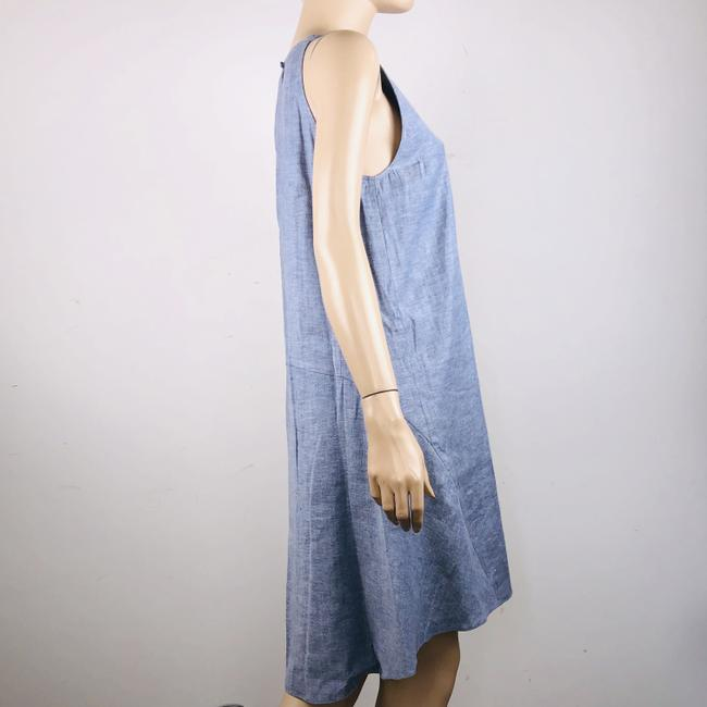 Theory short dress Blue Linen Blend Sleeveless Hi Lo Shift on Tradesy Image 5