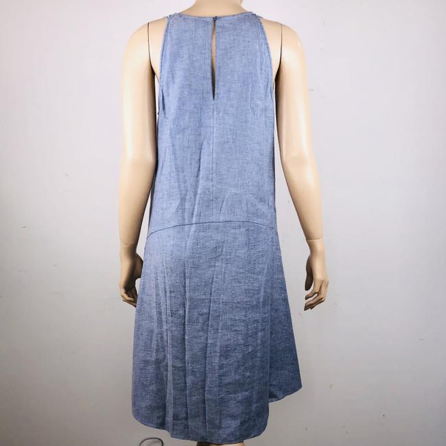 Theory short dress Blue Linen Blend Sleeveless Hi Lo Shift on Tradesy Image 6