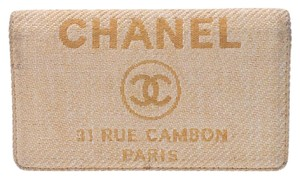 Chanel Chanel Women's Nylon Canvas Long Wallet (bi-fold) Yellow