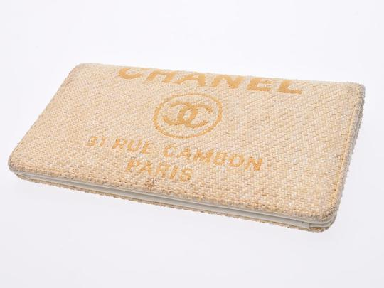 Chanel Chanel Women's Nylon Canvas Long Wallet (bi-fold) Yellow Image 6