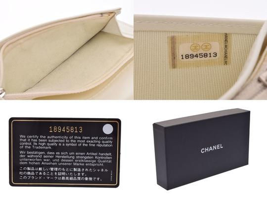 Chanel Chanel Women's Nylon Canvas Long Wallet (bi-fold) Yellow Image 8