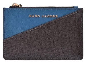 Marc Jacobs Marc Jacobs Top Zip Multi Wallet Vintage Blue / Gray Metallic Safiano Coin Case