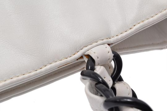 Chanel Leather Shopping Tote in White Image 10