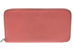 Hermès Hermes Women's Epsom Leather Wallet Rose Jaipur