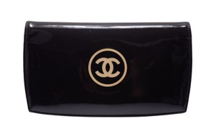 Chanel Black Patent Leather Long Bi-fold Wallet