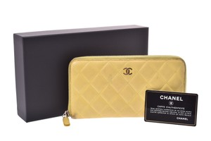 Chanel Chanel Matelasse Lambskin Wallet Yellow