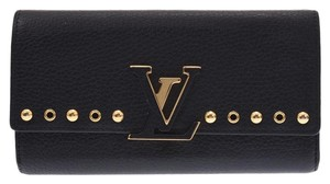 Louis Vuitton Louis Vuitton Capucine Wallet Black M62764 Ladies trillon leather wallet