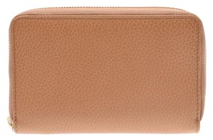 Gucci Light Brown Leather Zip Around Wallet