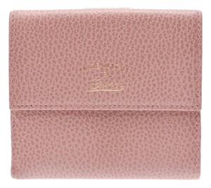 Gucci Gucci W hook wallet Pink Ladies leather