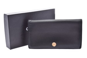 Chanel Chanel Coco Button Leather Wallet Black