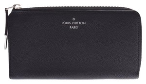 Louis Vuitton Louis Vuitton Comete Wallet Black M60146 Men's Women's Leather Long Purse