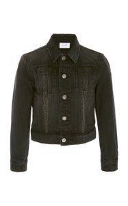 Current/Elliott Distressed Studded Chic Edgy Belmont Womens Jean Jacket