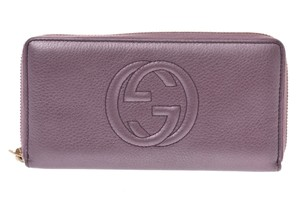 Gucci Gucci Inter Locking G Leather Wallet Purple