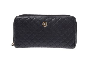 Chanel Chanel Matelasse Leather Wallet Black
