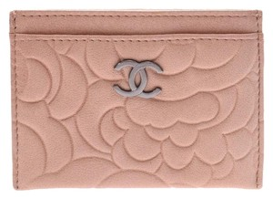 Chanel Chanel Camellia Card Case Sale Product Beige Ladies Calf CHANEL