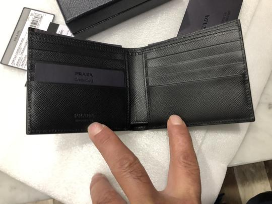 Prada Men's Saffiano Leather Billfold Wallet Metal Logo 2MO513 Image 2