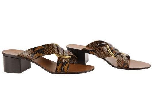 Chloé Leather Gold Hardware Brown Sandals Image 1