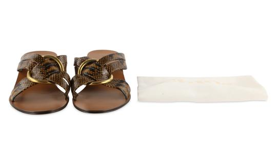 Chloé Leather Gold Hardware Brown Sandals Image 11