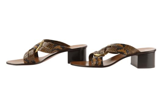 Chloé Leather Gold Hardware Brown Sandals Image 4