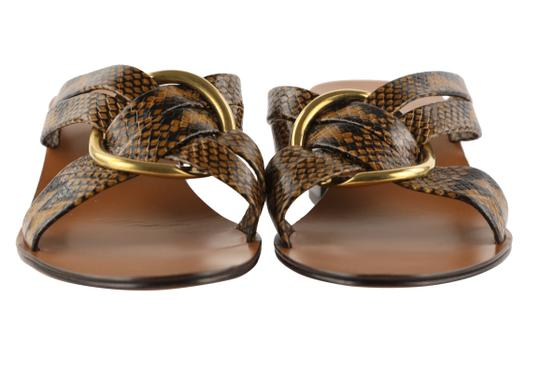 Chloé Leather Gold Hardware Brown Sandals Image 6