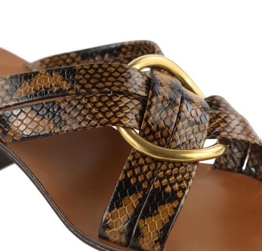 Chloé Leather Gold Hardware Brown Sandals Image 7