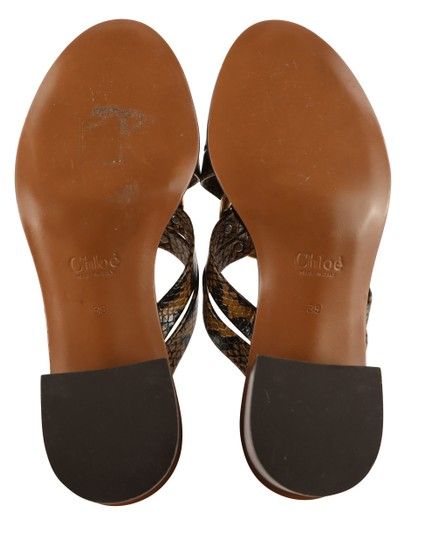 Chloé Leather Gold Hardware Brown Sandals Image 9