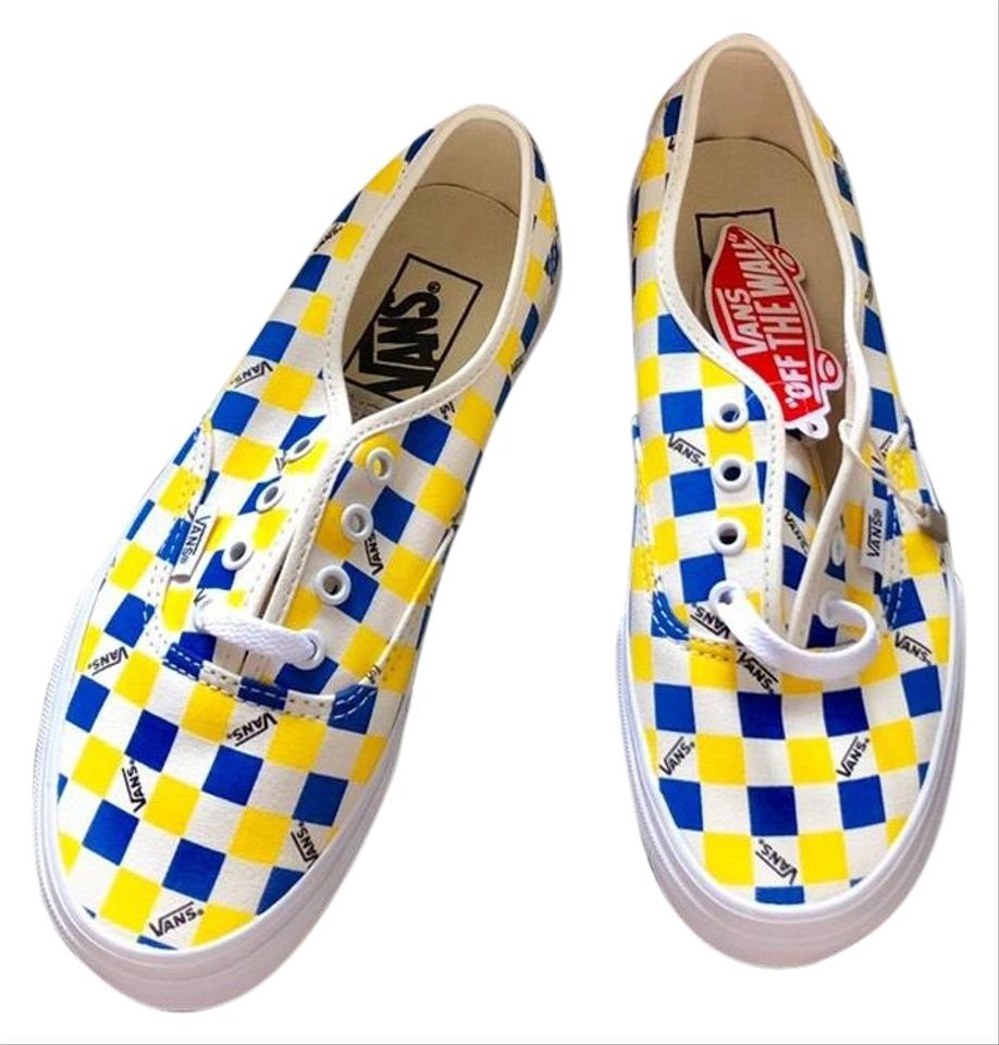 yellow checkered vans louis vuitton
