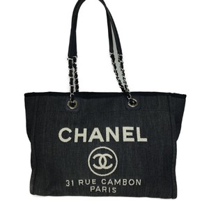 Chanel Tote in Blue / White