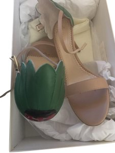 Charlotte Olympia Open Toe Nude/Green Sandals