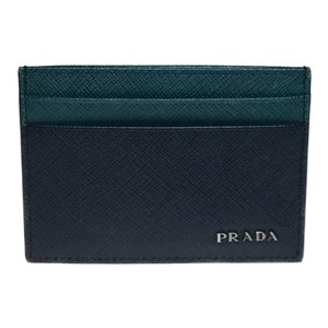 Prada Auth Prada Leather SAFFIANO LINE Bicolor Card Case