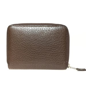 Tiffany & Co. Auth Tiffany Smart Zip Wallet (bi-fold) Brown