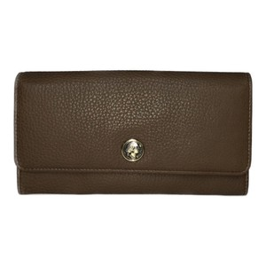 BVLGARI Bvlgari 35223 Monete Leather Long Wallet (bi-fold) Brown