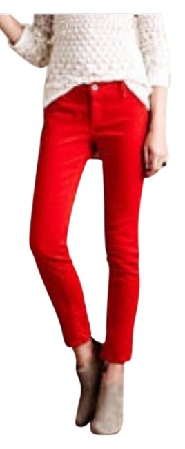 Item - Red The Stevie Ankle Slim Straight Leg Skinny Jeans Size 4 (S, 27)