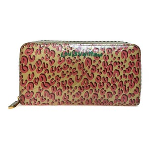Louis Vuitton Auth Louis Vuitton Vernis M91476 Zippy Wallet Patent Leather Long Wallet Beige,Pink