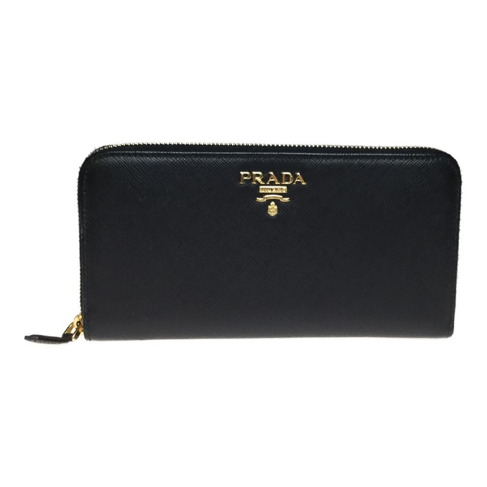 save off 804dd ddb88 Prada Nero Long Saffiano 1ml506 Saffiano Metal (Bi-fold) Wallet