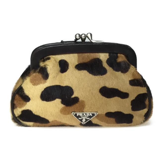Item - 1m1179 Pouch Coin Case Brown / Camel Leather / Fur Clutch