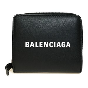 Balenciaga Balenciaga 551933 DLQ4N Leather Wallet (bi-fold) Black